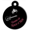 Médaille personnalisée chien Lifestyle queen rock'n'roll