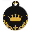 Médaille personnalisée chien Fashion couronne dorée