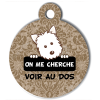 Médaille personnalisée chien On me cherche Atoo baroque marron