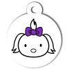 Médaille personnalisée chien Hi Doggy Lulu violette