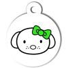 Médaille personnalisée chien Hi Doggy Doudoune verte
