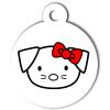 Médaille personnalisée chien Hi Doggy Frimousse rouge