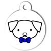Médaille personnalisée chien Hi Doggy Fripouille bleue