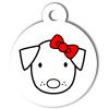 Médaille personnalisée chien Hi Doggy Maria rouge