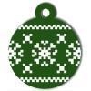 Médaille de Noël pour chien Flocon Vert Pixels