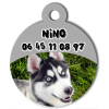 Medaille personalisee chien My Dog photo entière Nino