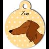 Médaille personnalisée pour chien marron poils longs