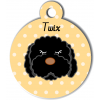 Médaille personnalisée chien frisé noir