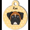 Médaille personnalisée chien tricolore