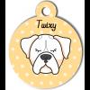 Médaille personnalisée chien blanc