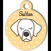 Médaille personnalisée chien crème