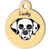 Médaille personnalisée chien dalmatien