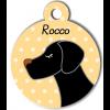 Médaille personnalisée chien noir