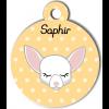 Médaille personnalisée petit chien blanc
