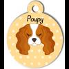 Médaille personnalisée pour chien blanc et marron clair
