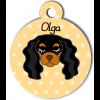 Médaille personnalisée pour chien noir et marron clair