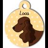 Médaille personnalisée chien marron foncé oreilles longues
