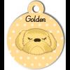 Médaille personnalisée chien abricot poils longs