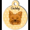 Médaille personnalisée chien marron clair poils mi-longs