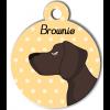 Médaille personnalisée chien marron foncé poils courts