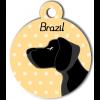 Médaille personnalisée chien noir poils courts