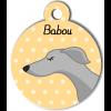 Médaille personnalisée chien fin gris