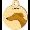 Médaille personnalisée chien fin caramel