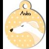 Médaille personnalisée chien fin blanc