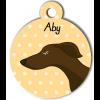 Médaille personnalisée chien fin marron foncé