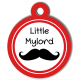 medaille_personalisee_chien_fashion_lord_moustache_little_mylord_rouge