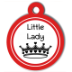 medaille_personalisee_chien_fashion_couronne_little_lady_rouge
