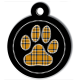 medaille_personnalisee_chien_patoune_fashion_carreaux_cerclee_jaune