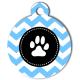 medaille_personnalise_chien_patoune_fashion_zigzag_bleue_ciel