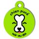 medaille_personnalisee_chien_puce_verte