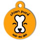 medaille_personnalisee_chien_puce_orange