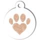 medaille_personnalise_chien_patoune_simple_love_coeur_beige