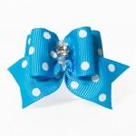 noeud pour chien bleu