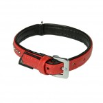 collier rouge cuir