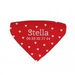 Bandana chien personnalisé Stella rouge