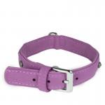 collier cuir violet