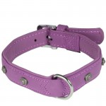 collier violet cuir