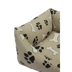 sofa pour chien motif os