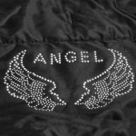 manteau chien strass angel