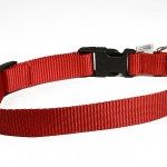 collier rouge nylon