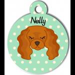 Médaille personnalisée vert pour chien marron clair