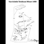 Tondeuse Moser chien vue eclatee