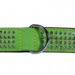 collier strass vert
